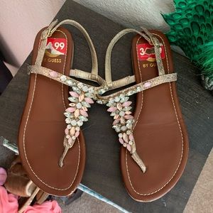 Guess thing jeweled sandals